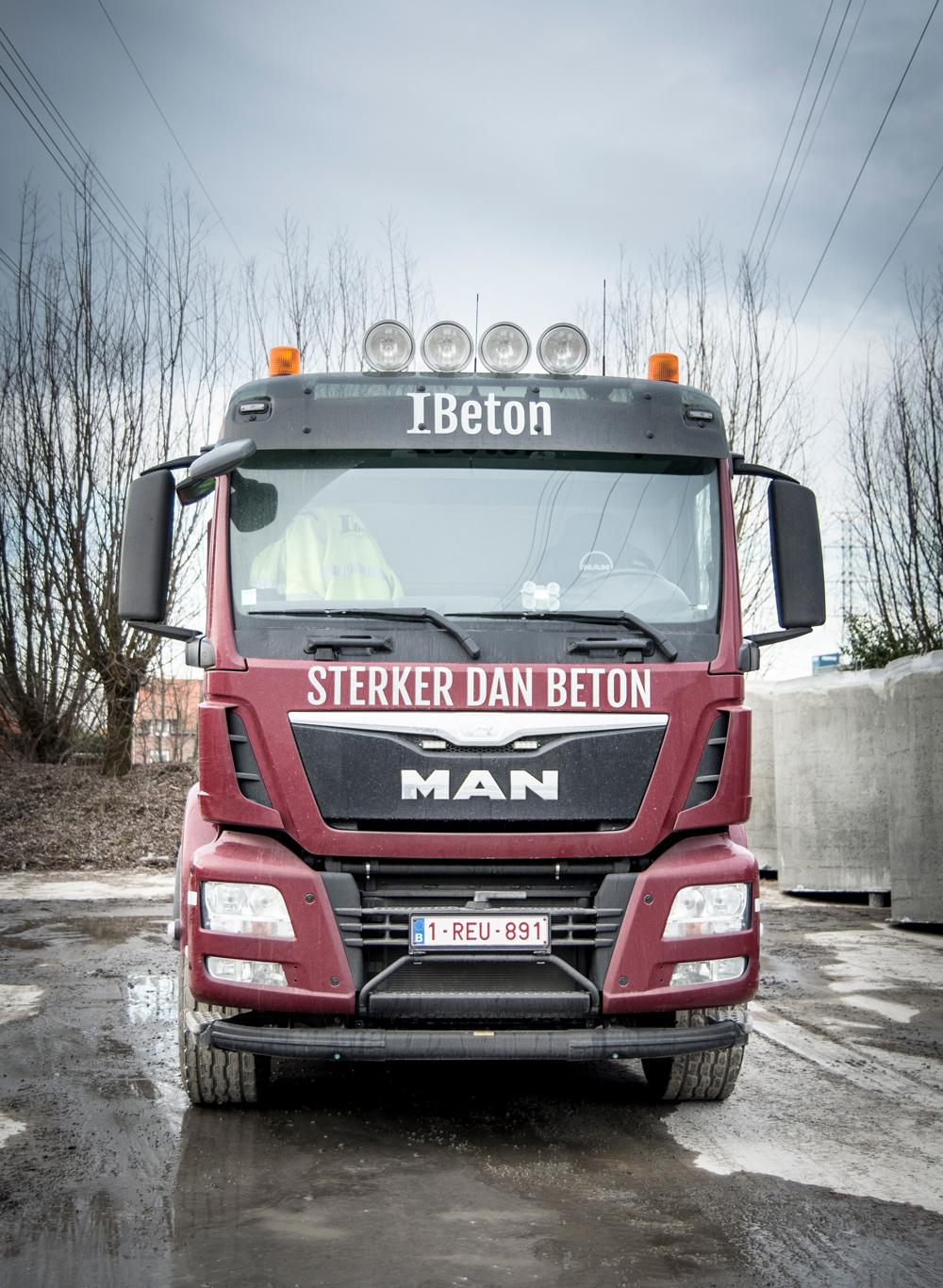 Vrachtwagen Ibeton sterker dan beton